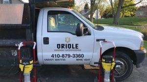 oriole basement waterproofing truck